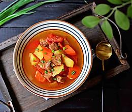 暖胃西红柿牛腩汤的做法