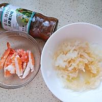 #321沙拉日#白萝卜鲜虾鸡蛋卷的做法图解3