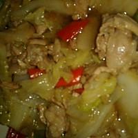 (家常菜)大白菜炒肉的做法图解4