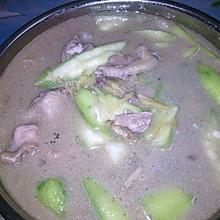 快手菜,雞肉絲瓜湯