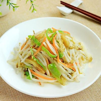 【首发】榨菜炒豆芽--乌江榨菜