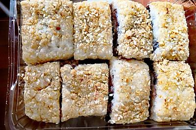 陕西小吃蜂蜜红豆糯米凉糕