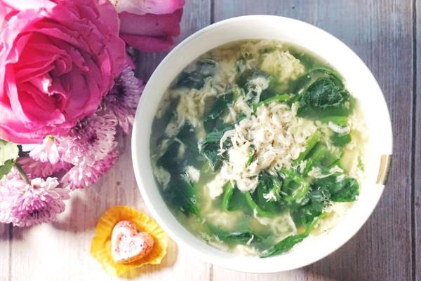 在女神节,补气又补血的,菠菜蛋花汤,做给你的她的做法