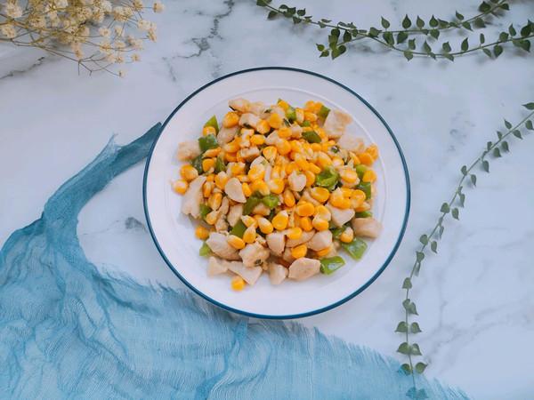 玉米粒炒鸡丁的做法