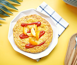 #换着花样吃早餐#大小朋友都无法抗拒的土豆火腿鸡蛋饼的做法
