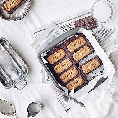 焦糖饼干布朗尼
