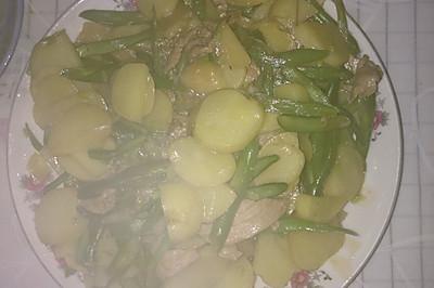 新土豆片炒雲豆絲