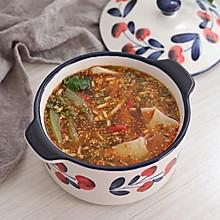 红油酸汤面片,酸辣可口好开胃,简单又快手