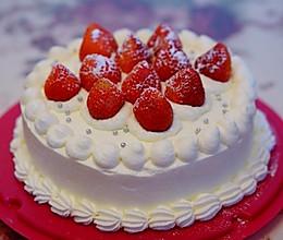 草莓戚风奶油蛋糕(8寸)的做法