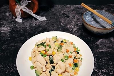 #花10分钟,做一道菜!#【炒】宝宝添饭必备-五彩鸡丁