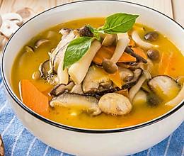 蟹粉金汤烩菌菇的做法