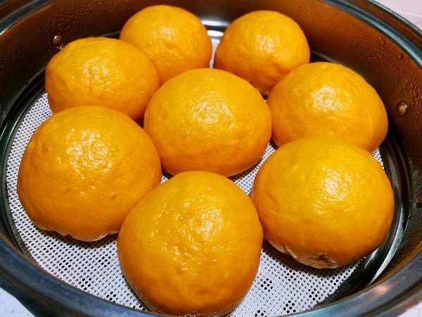 南瓜奶黄包(浓郁南瓜型)的做法