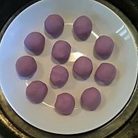 椰香紫薯糯米糍的做法图解6