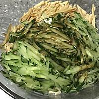 #菁选酱油试用之拌好滋味黄瓜豆腐丝的做法图解6