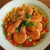 健身餐 杂蔬煎虾的做法图解7