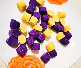简单省时自制低糖紫薯粉南瓜粉版芋圆的做法