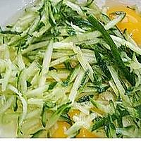 黄瓜鸡蛋饼的做法图解2