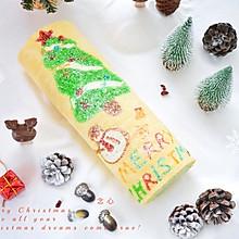#令人羡慕的圣诞大餐#圣诞树蛋糕卷