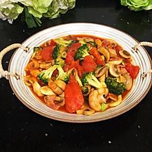 #太太乐鲜鸡汁玩转健康快手菜#茄汁西兰花口蘑
