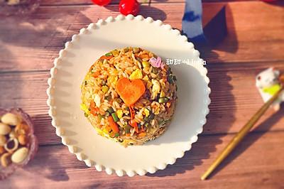 蒜苔酱油炒饭——粒粒分明