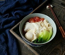 10分钟快手早餐-西红柿鸡蛋挂面的做法