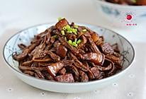 五花肉烧干豆角的做法
