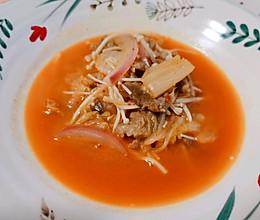 #我要上首焦#肥牛泡菜汤的做法