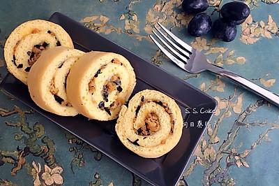 海苔肉松瑞士蛋糕卷