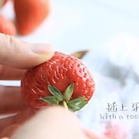 献礼祖国70周年·浓情巧克力草莓棒·为祖国加油喝彩的做法图解3