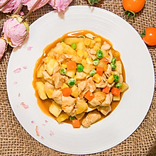 五彩鸡丁,菠萝这样做也好吃 #百变水果花样吃#