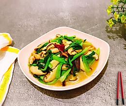 #做道懒人菜,轻松享假期#香菇炒青菜的做法