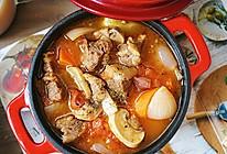 无油黑胡椒番茄牛腩煲的做法