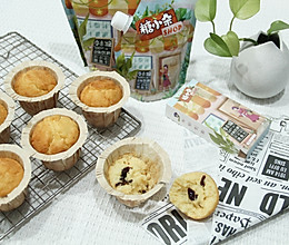 #糖小朵甜蜜控糖秘籍# 松软的椰蓉蔓越莓玛芬蛋糕的做法