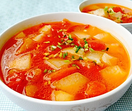 清爽开胃--番茄冬瓜汤的做法