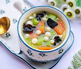 #晒出你的团圆大餐#丝瓜木耳菌菇汤的做法