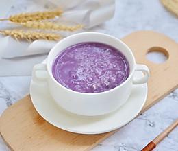 迷人色彩紫薯粥的做法