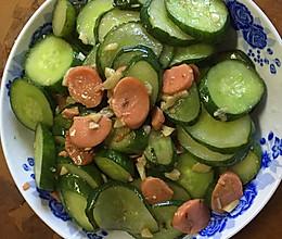 黄瓜炒火腿肠的做法