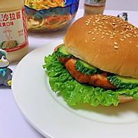 #321沙拉日#奥尔良鸡肉汉堡的做法图解8