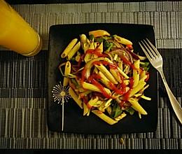 辣味素烩斜管意面的做法