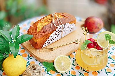 百香果磅蛋糕&蔓越莓百香果柠檬气泡水