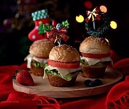 #令人羡慕的圣诞大餐#圣诞迷你汉堡的做法
