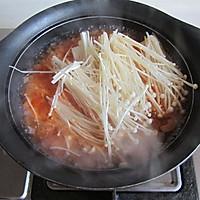 金针菇番茄蛋汤#舌尖上的春宴#的做法图解6