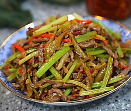 芹菜炒牛肉丝儿的做法