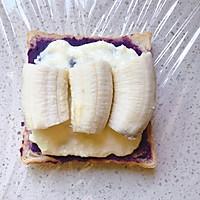 低卡早餐——厚切紫薯香蕉三明治的做法图解7