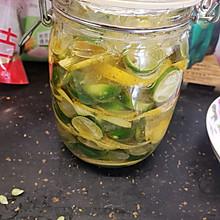 #助力高考营养餐#蜂蜜青桔柠檬茶饮