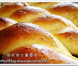 花生杏仁酱面包的做法