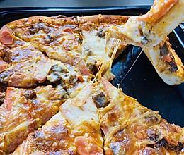 培根口蘑披萨的做法