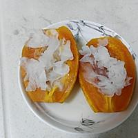 冰糖银耳木瓜盅的做法图解5
