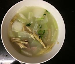 咸肉扁尖冬瓜汤的做法