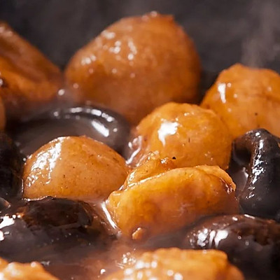 花菇玉子豆腐:鸡蛋豆腐的一种惊喜烧法!